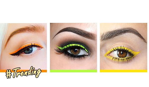 Neon eyeliner looks we love