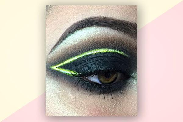 neon lights eyeliner look