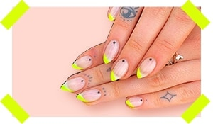 Neon tips: The minimalist's answer to on-fleek nails!