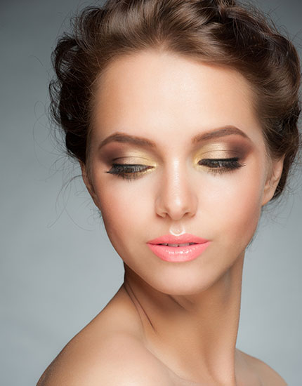 new bridal makeup trends 2014 glossy look 430x550