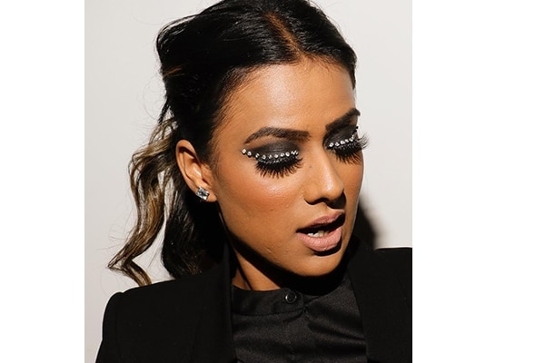 Bedazzled smokey eyes
