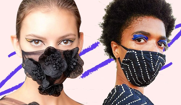 NYFW: Face masks and bold, bright eye makeup looks dominated the runway this season