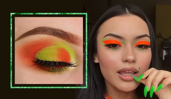 5 fun and non-boring orange and green eye makeup looks to flaunt on Independence Day