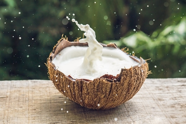 Coconut milk for frizzy hair