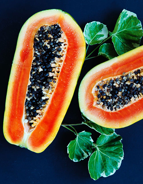 A PAPAYA FRUIT FACIAL FOR TROUBLED SKIN