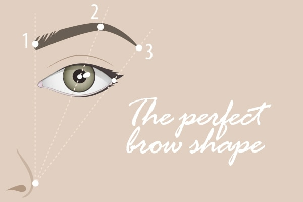 Follow the natural shape of your eyebrows