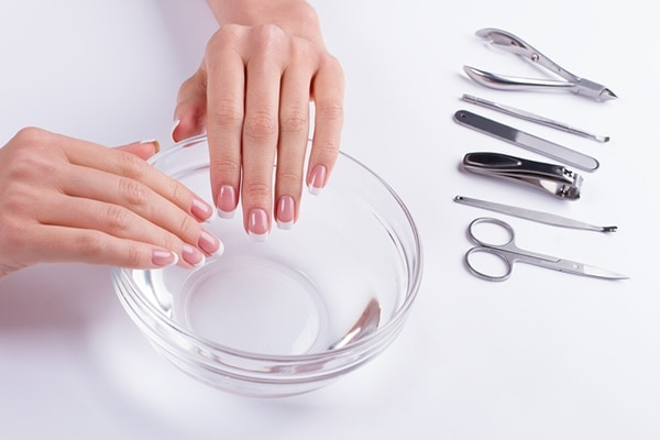 Acetone-free nail polish remover + tweezer