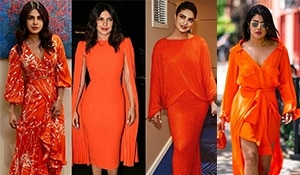 It's raining orange! Priyanka Chopra Jonas's many tangerine moods