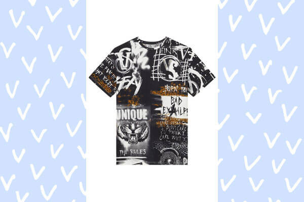 punk tee from Balmain and Victoria's Secret collection