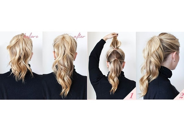Extra-long ponytail