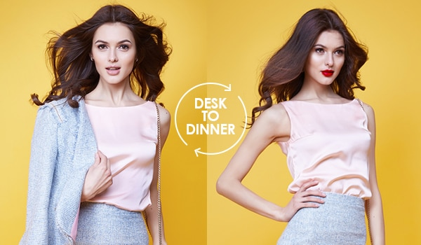 Makeup steps to go from desk to dinner in a jiffy
