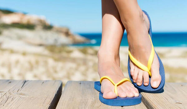 We love these quirky flip-flops for the summer