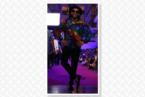 When he attended the Manish Arora show in a sequined bomber