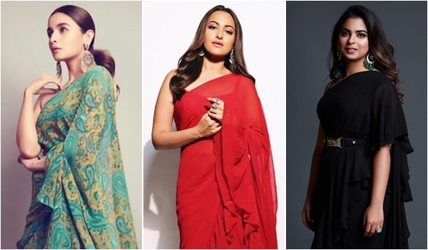 Makeup and hair to wear with a ruffled sari to look like a Bollywood celebrity