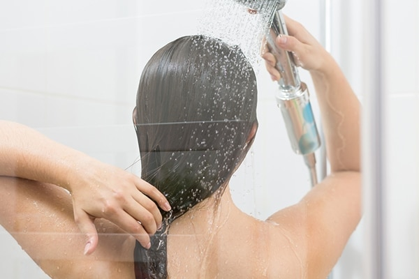 Rinse with cool water