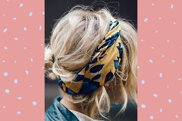 how to wear a scarf as a headband