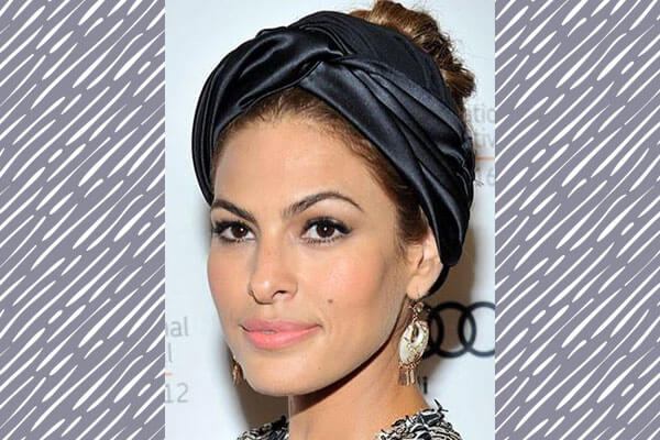 scarf hairstyle on red carpet