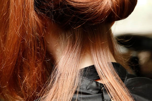 section your hair into top