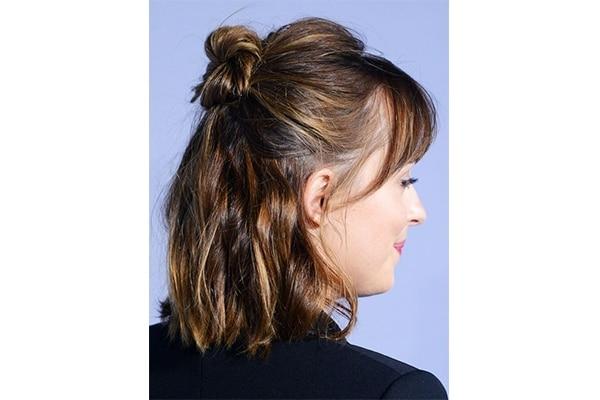Half knot long bob hairstyles