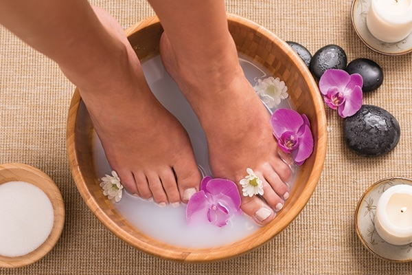 Step 1: Clean your feet