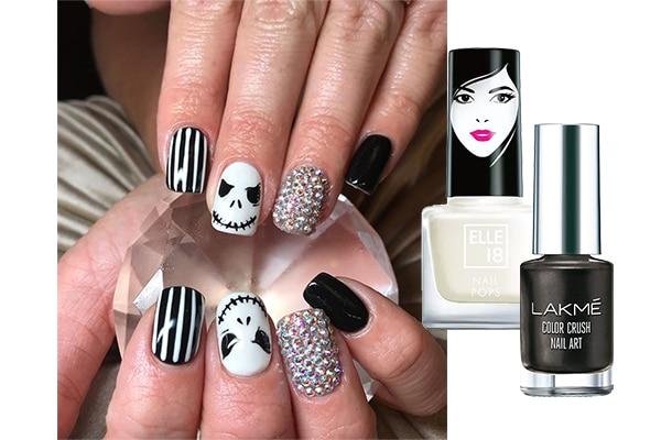 Simple Halloween Nail Art Ideas