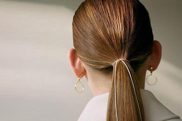 The sleek low ponytail