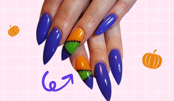 Halloween nail art ideas: Super easy stitched up nail art tutorial to try RN