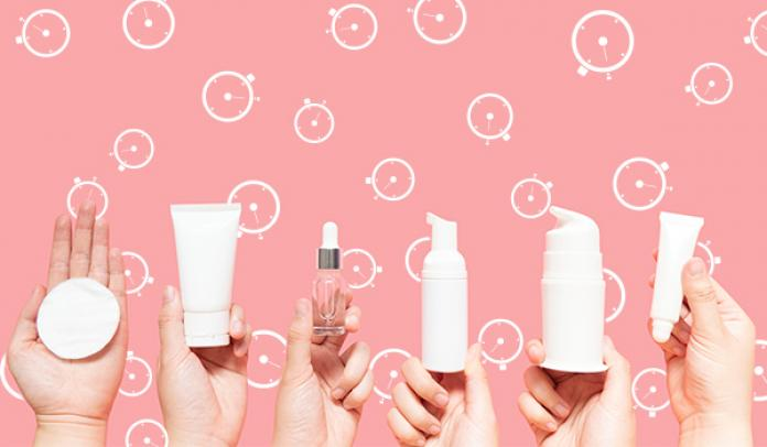 Interval between applying skincare products