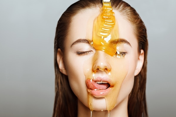 Prepare a honey face mask