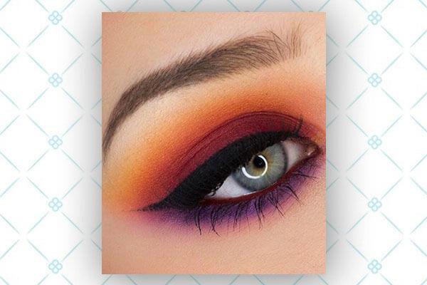 sunset eye shadow makeup