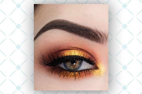 sunset eye shadow trend