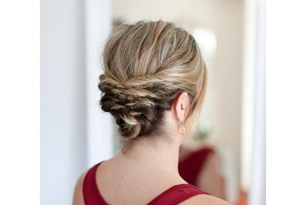 The Short Messy Updo