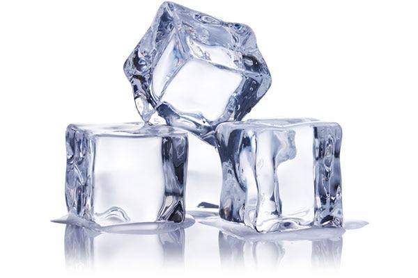 Suck on ice cubes