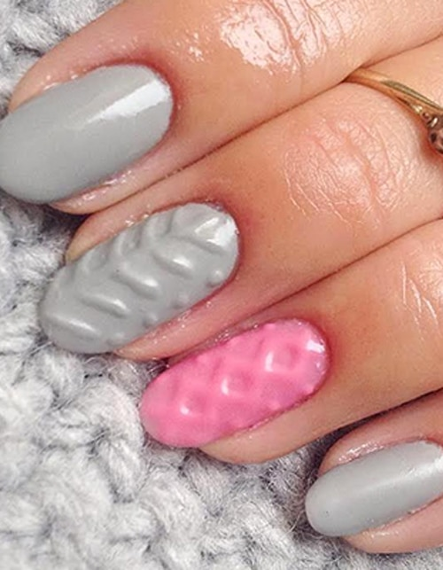 Trend-spotting: Cosy up with the Sweater Nail trend
