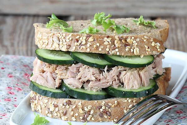 Tuna Veggie Sandwich