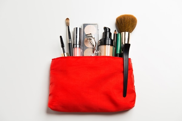 Start with your cosmetic bag