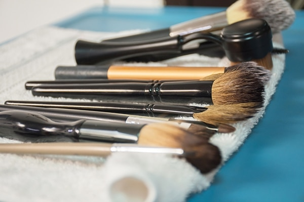 Thoroughly clean your brushes