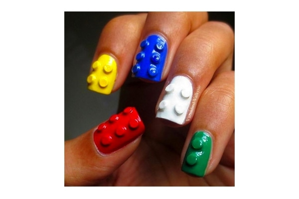weird nail art
