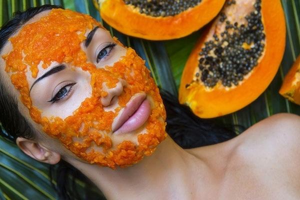 Papaya and oatmeal