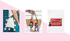 Why pom poms are the 'it' accessory for your bag this season