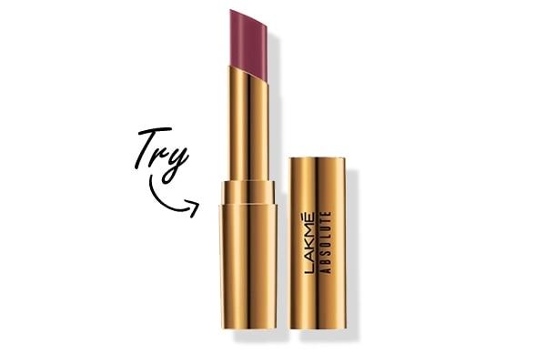 Deep berry lipstick