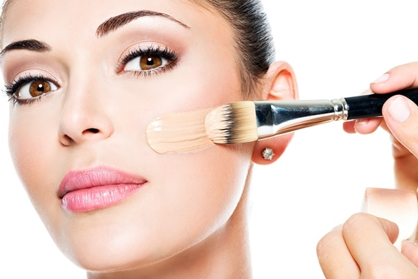 Use makeup brush or sponge