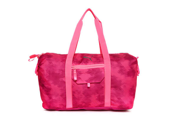 Puma Women Pink Fit At Workout Printed Duffel Bag
