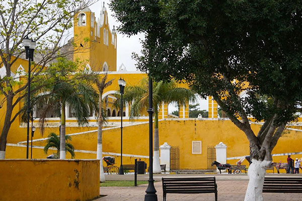 yellow city of mexico izamal