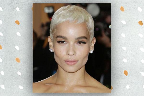 zoe kravitz in short hairstyle